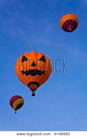 Colorful balloon in blue sky