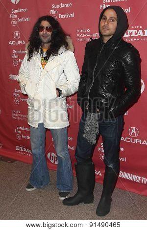 PARK CITY, UT-JAN 28: Aron Mardo (L) and Robert Mardo of the Heavy Young Heathens attend the