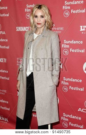 PARK CITY, UT-JAN 28: Actress Leslie Bibb attends the