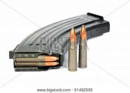 Ak-47 magazine and Full Metal Jacketed shells