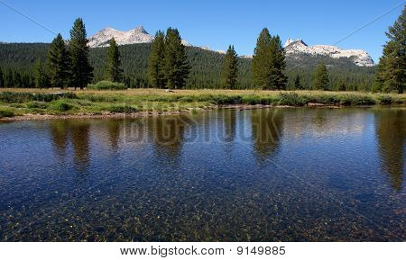Mountains in Tuolumne Meadow, Yosemite National Park, CA poster