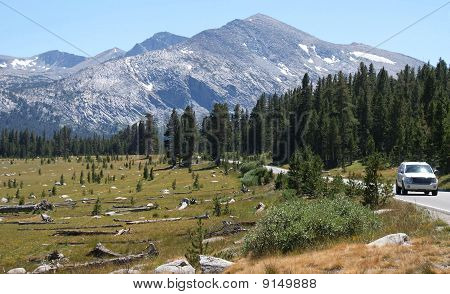 Tioga Road in Yosemite National Park
