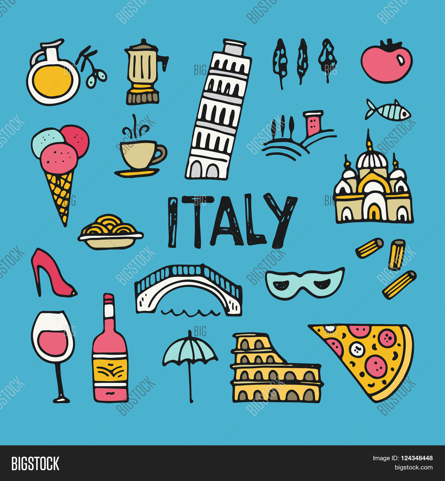 Italian Symbols Vector Photo Free Trial Bigstock