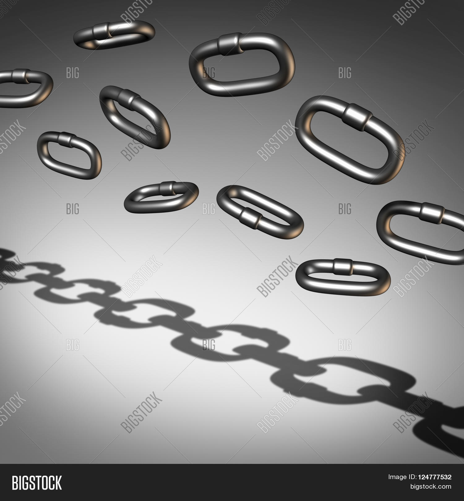 Chain Abstract Image Photo Free Trial Bigstock