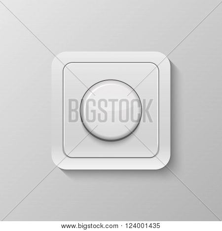Realistic switch isolated on white. Vector EPS10 illustration.
