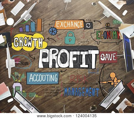 Profit Income Earning Financial Money Proceeds Concept