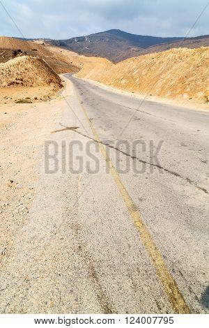 In Oman Asphalt Street White Line