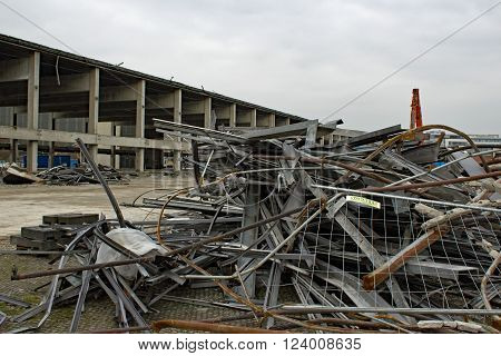 Broken Factory Demolition Collapsed Collapsing Rubble Construction Waste Area