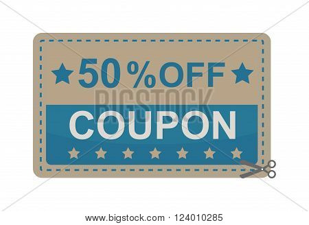 Gift Coupon Vector illustration.Gift Coupon template.Gift voucher template with clean and modern pattern. Gift Coupon design.Gift coupon certificate template, can be use for business shopping card