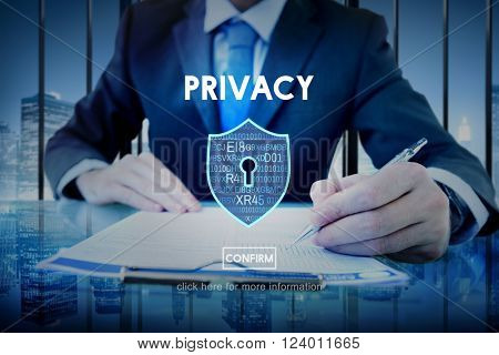 Privacy Policy Private Security Protection Secret Concept