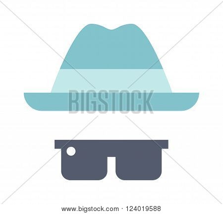 Summer boys look travel, summer vacation, tourism and objects concept close up of clothes summer hat, sunglasses. Summer mans clothes summer hat, sunglasses. Fashion summer clothing vector look.