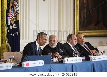 Barack Obama And Narendra Damodardas Modi