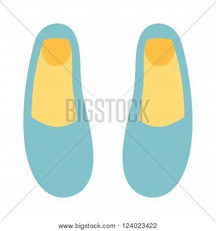 Ballet shoes dance studio symbol - illustration. Ballet shoes dance performance. Ballet shoes elegant footwear. Ballet blue cartoon shoes elegant footwear. Activity ballet shoes
