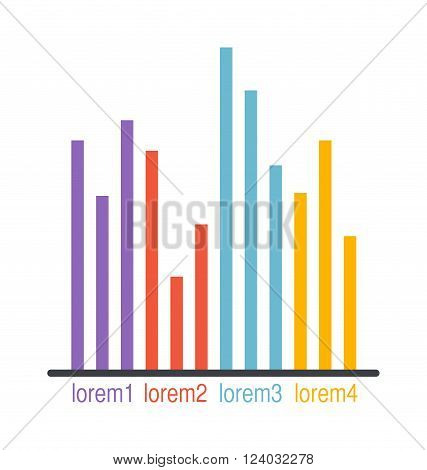 Graph elements vector illustration. Flat Infographic elements Graph vector. Graph business Infographic elements. Graph elements illustration. Graph elements template.