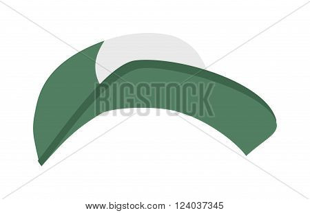 Cap cartoon vector illustration. Male color rap cap. Cap illustration isolated on white background. Cap hat fashion clothing. Cap warm sport accessory. Cap vector. Cap flat style.