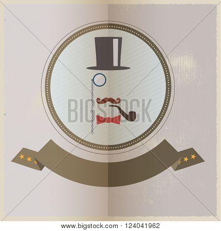 Gentleman - hipster culture design illustration