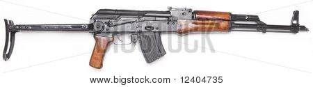 Well known AK-47 kalashnikov assault rifle.