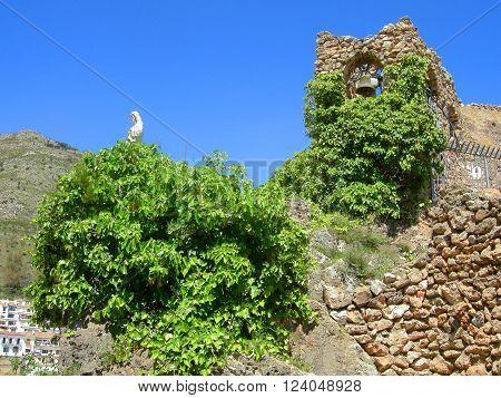 The grotto of the Virgen de la Pena in Mijas village Spain Costa Del Sol