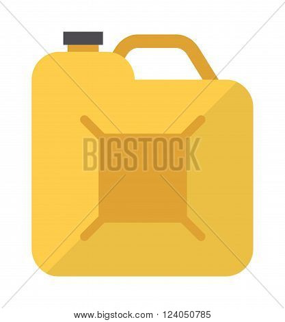 Metal canister of gasoline cartoon flat vector canister illustration. Illustration in vector gasoline canister and diesel industry gasoline flat canister.