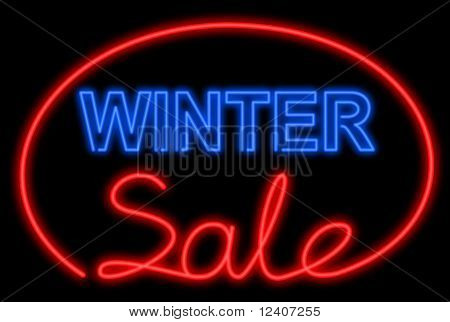 Winter sale neon