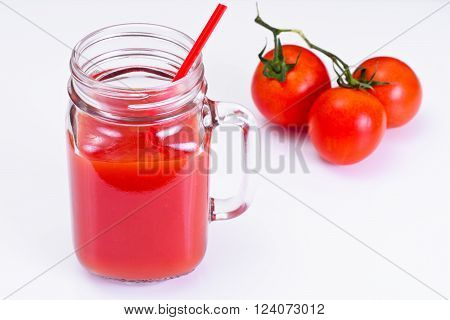 Sweet Tasty Vitamin Tomato Smoothies Juice Studio Photo