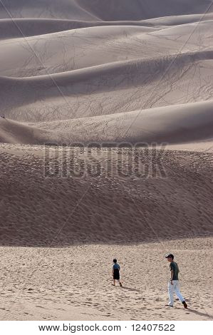 Hiking In The Sand Dunes