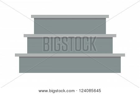 Stairs architecture elements and stairs elements stairway business step. Stairs elements abstract construction. Outdoor motion concrete stair. Stairs elements interior flat architecture concept vector