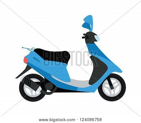 Scooter silhouette symbol and scooter cartoon icon vector. Vector modern creative flat design illustration featuring retro silhouette scooter.