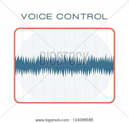 Oscillating wave and waveform sound chart letterbox equalizer. Sound chart technology waves. Blue frequency diagram of graphic audio equalizer for digital player sound chart oscillating waves vector.
