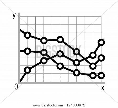 Business data graph chart analytics vector elements black silhouette. Bar pie charts diagrams and graphs flat icons set. Infographics data analytics design elements isolated on white vector illustration