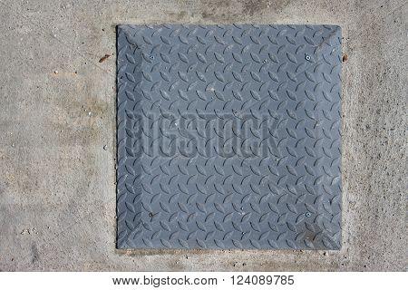 square metal steel manhole cover drain hole