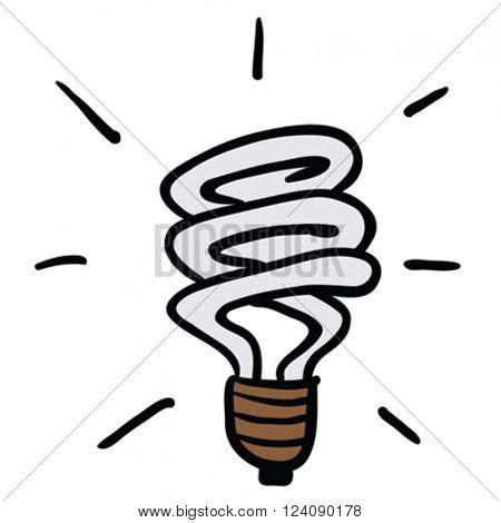 energy saving light cartoon