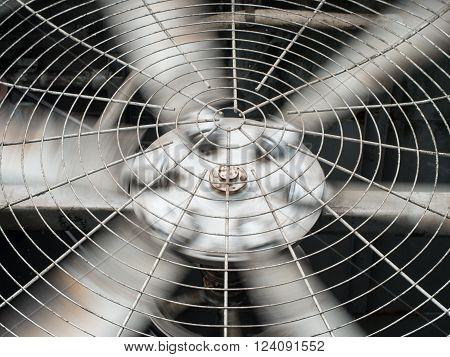 HVAC (Heating, Ventilation and Air Conditioning) spinning blades / Closeup of ventilator / Industrial ventilation fan background / Air Conditioner Ventilation Fan / Ventilation system