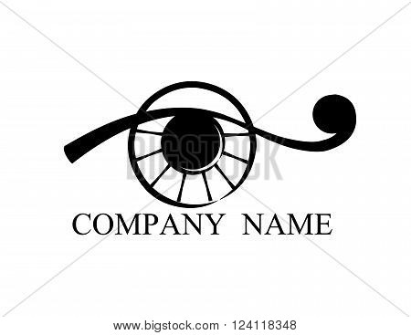 isolated abstract  eye on white background. vector
