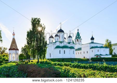 Transfiguration Cathedral Church of the Intercession and the chapel-ossuary in the Holy Transfiguration Monastery Murom Russia