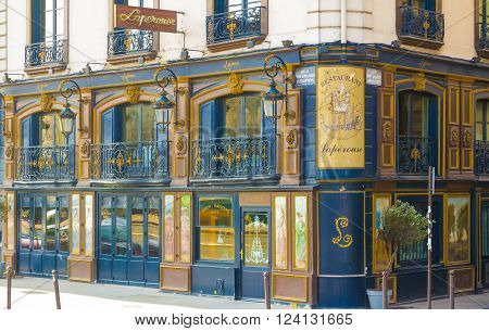 Paris France-March 13 2016 : The famous restaurant Laperouse was founded in 1766 it has experienced all of Paris literature: Guy de Maupassant Emile Zola Victor Hugo...while retaining its original decor.