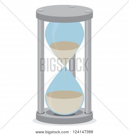 Sand glass isolated. Time clock and hourglass icon hourglass isolated and sand clock stopwatch sand hour glass time countdown timer measure. Vector flat design illustration