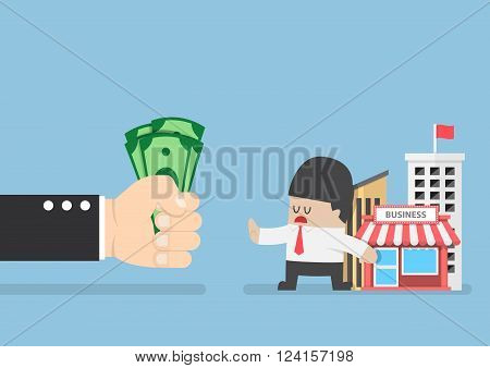 Businessman Do Not Want To Sell His Business
