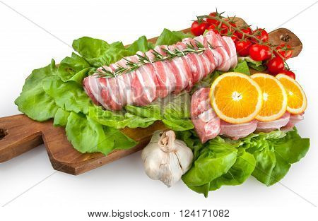 Food Cousine Meat Composition, Ingredient For Eating