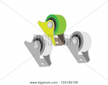 The rollers for furniture. Wheels for furniture