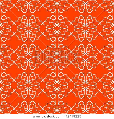 Seamless background Floral Pattern orange flow