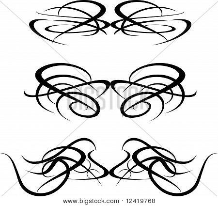 set of Artwork tattoo Collection element isolated on white poster