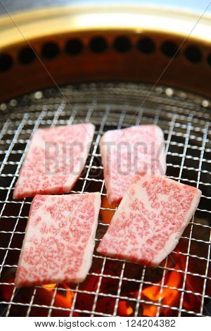 close up shot of charbroiled Korean barbecue