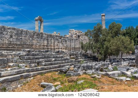 Ruins of ancient Temple of Apollo, Didyma, Aydin Province, Turkey
