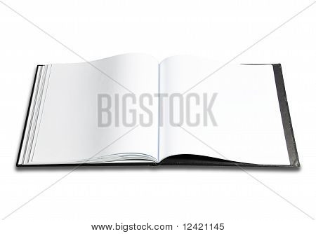 Clear white paper book