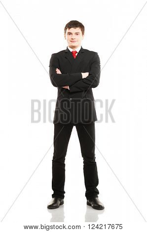 Businessman isolated on white