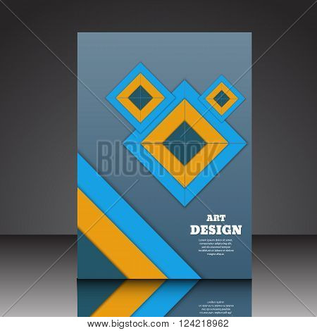 Abstract Design Composition A4  Brochure Eps10 Vector