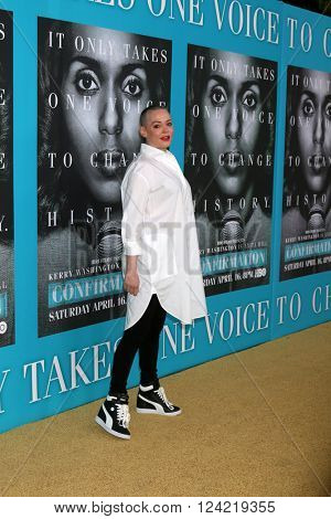 LOS ANGELES - MAR 31:  Rose McGowan at the Confirmation HBO Premiere Screening at the Paramount Studios Theater on March 31, 2016 in Los Angeles, CA