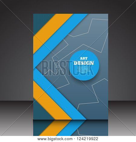 Abstract Ribbon Design Composition A4  Brochure Eps10 Vector