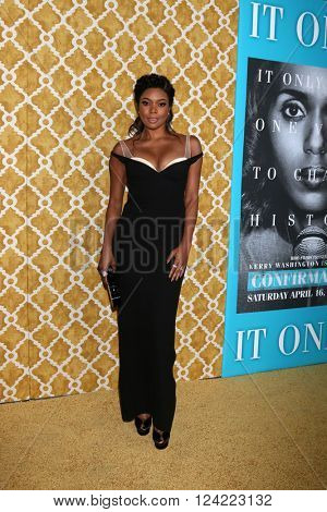 LOS ANGELES - MAR 31:  Gabrielle Union at the Confirmation HBO Premiere Screening at the Paramount Studios Theater on March 31, 2016 in Los Angeles, CA